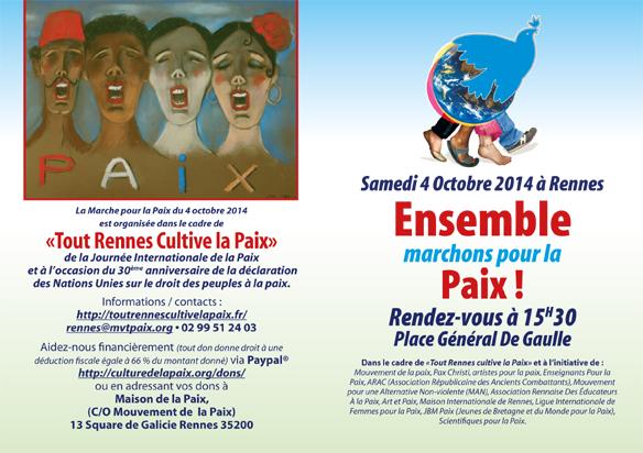 marche pour la paix le 4 octobre 2014