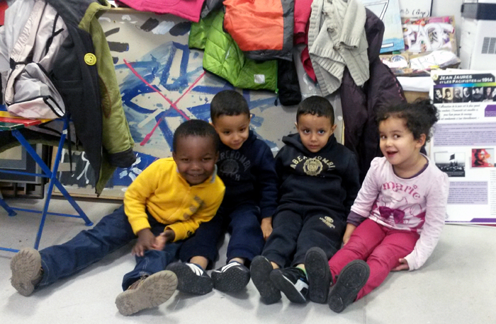 des enfants du quartier du Blosne