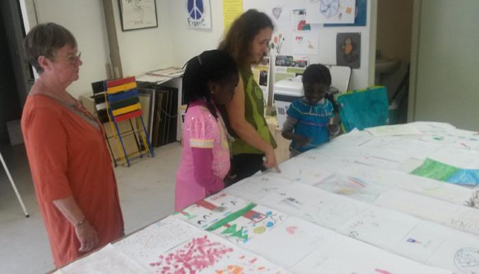 l'art des enfants du Blosne à Rennes