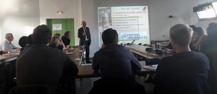 Conférence de Bruno Parmentier au Lycée agricole Saint-Exupéry à Rennes