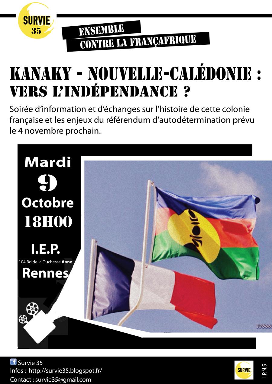 affiche conférence Kanaky