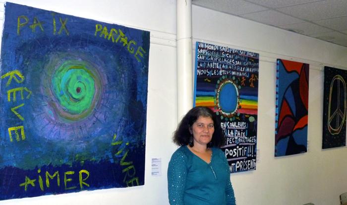 Christelle Cambier à la Maison de la paix