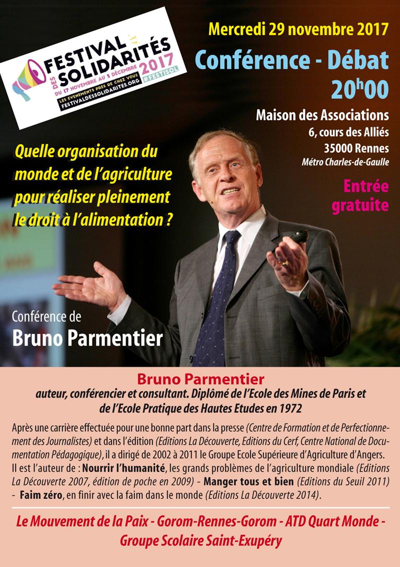 conference de Bruno Parmentier le 29 novembre 2017