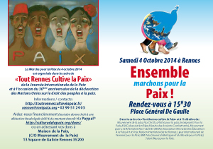 Flyer pour la manifestation le 4 octobre 2014