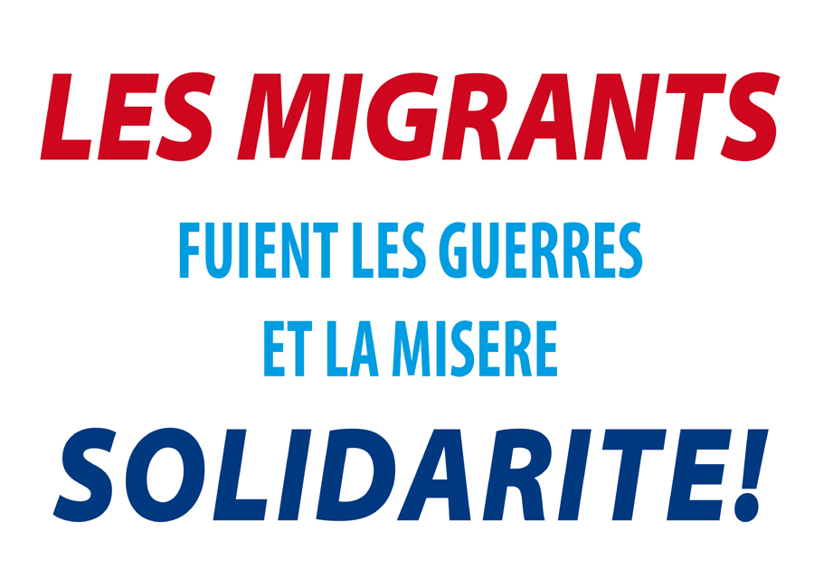 Les migrants fuient les guerres et la misère, solidarité