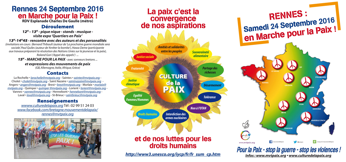 Marche pour la paix 2016
